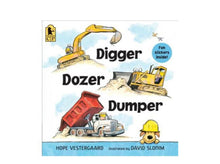 Load image into Gallery viewer, Digger Dozer Dumper board book