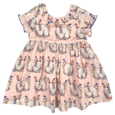 Pink Chicken Princess Diana dress - Easter bunnies