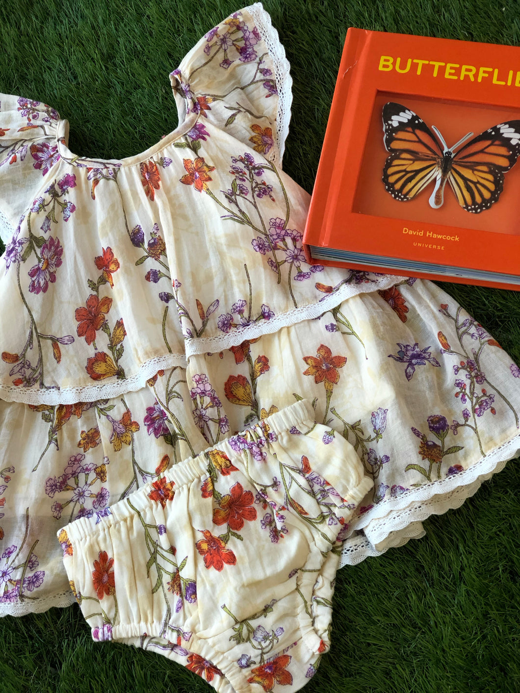 Mimi and Maggie Butterfly Garden Bloomer Set