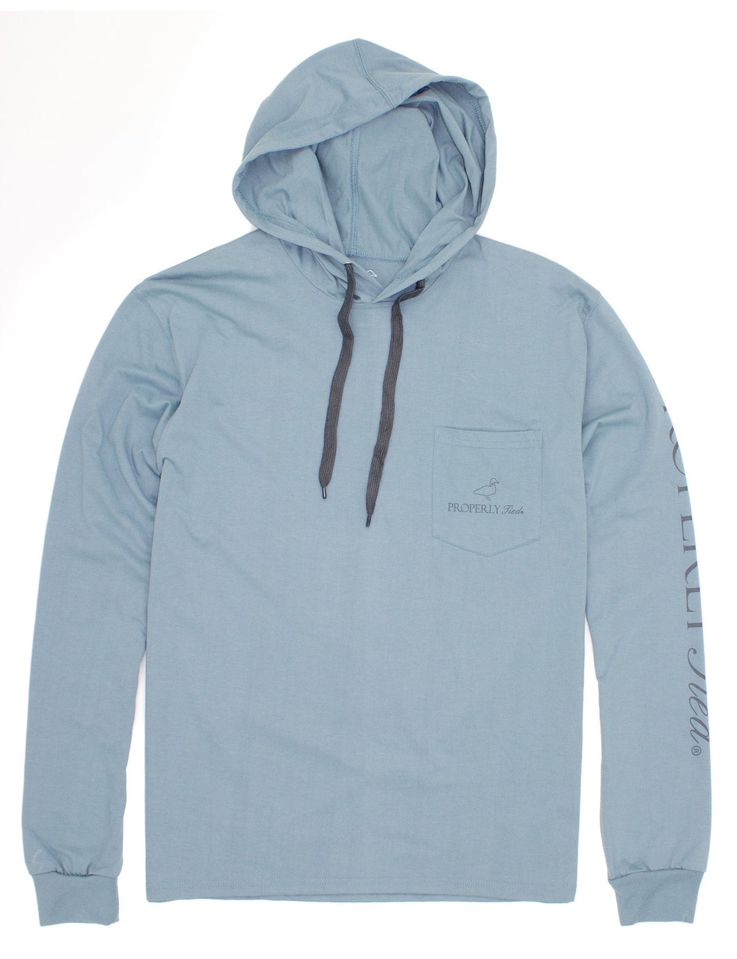 Properly Tied Gulf Hoodie Steel Blue