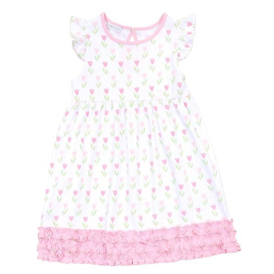 Magnolia Baby Tulips Toddler Ruffle Dress