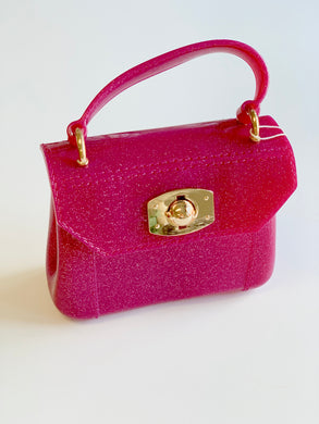 Fuchsia Glitter Jelly Purse
