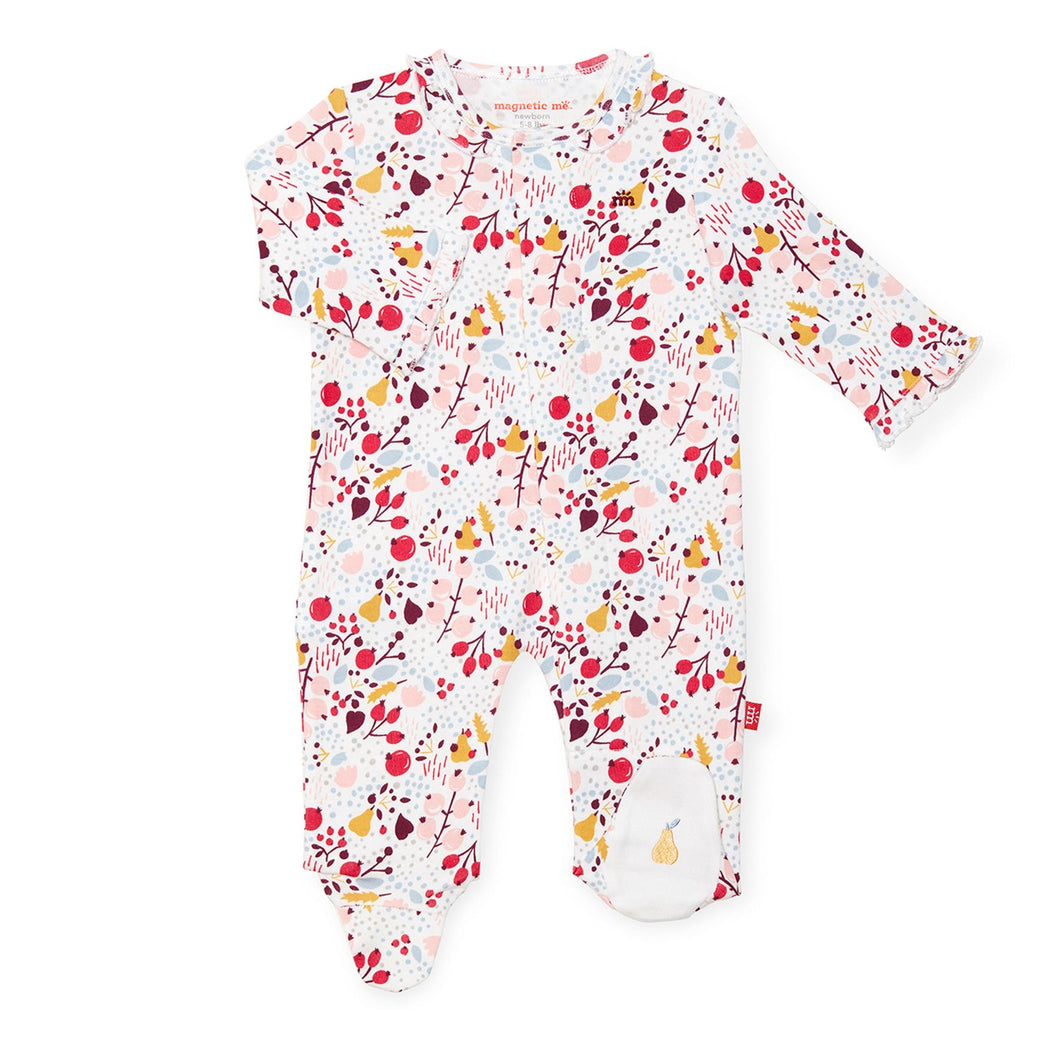 Magnetic Me Organic Cotton Footie- Pom Pom