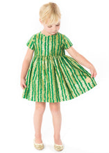 Load image into Gallery viewer, Smiling Button Grass & Gold Sunday Dress