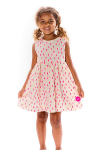 Smiling Button Melon Moons Pinny dress