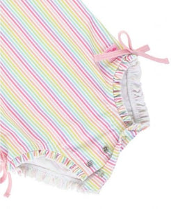 Ruffle Butts Rainbow Stripe One Piece Rashguard