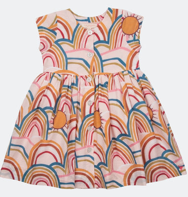 Pink Chicken Winnie Dress Cloud Pink Rainbows