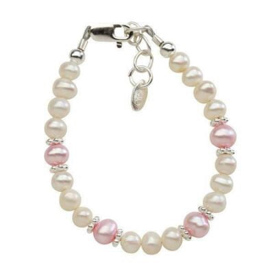 Addie Pink and White Pearl Bracelet