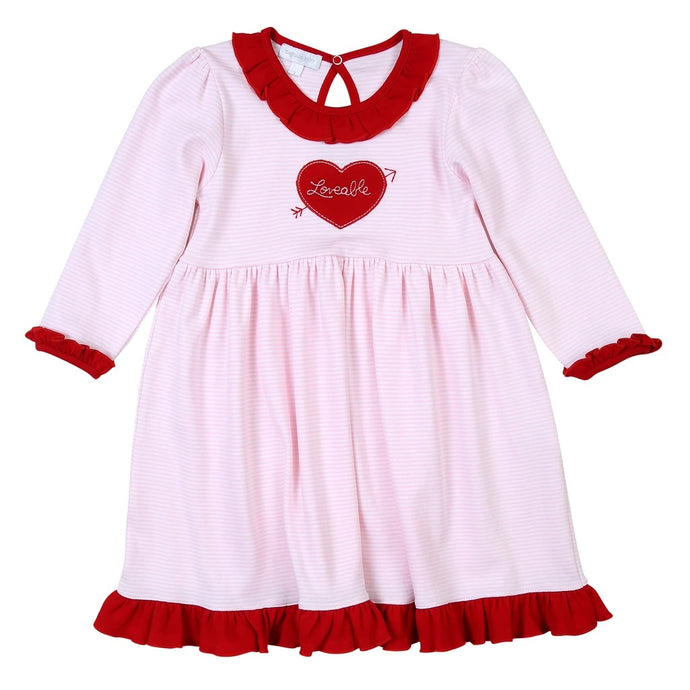Magnolia Baby Loveable Appliqué Toddler Dress