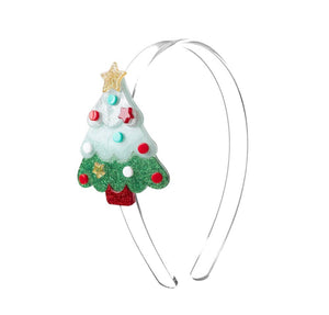 Christmas Tree Glitter Acrylic Headband