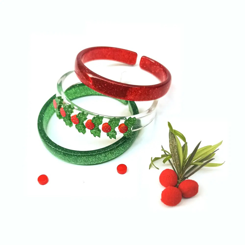Mistletoe Bangles- Holiday