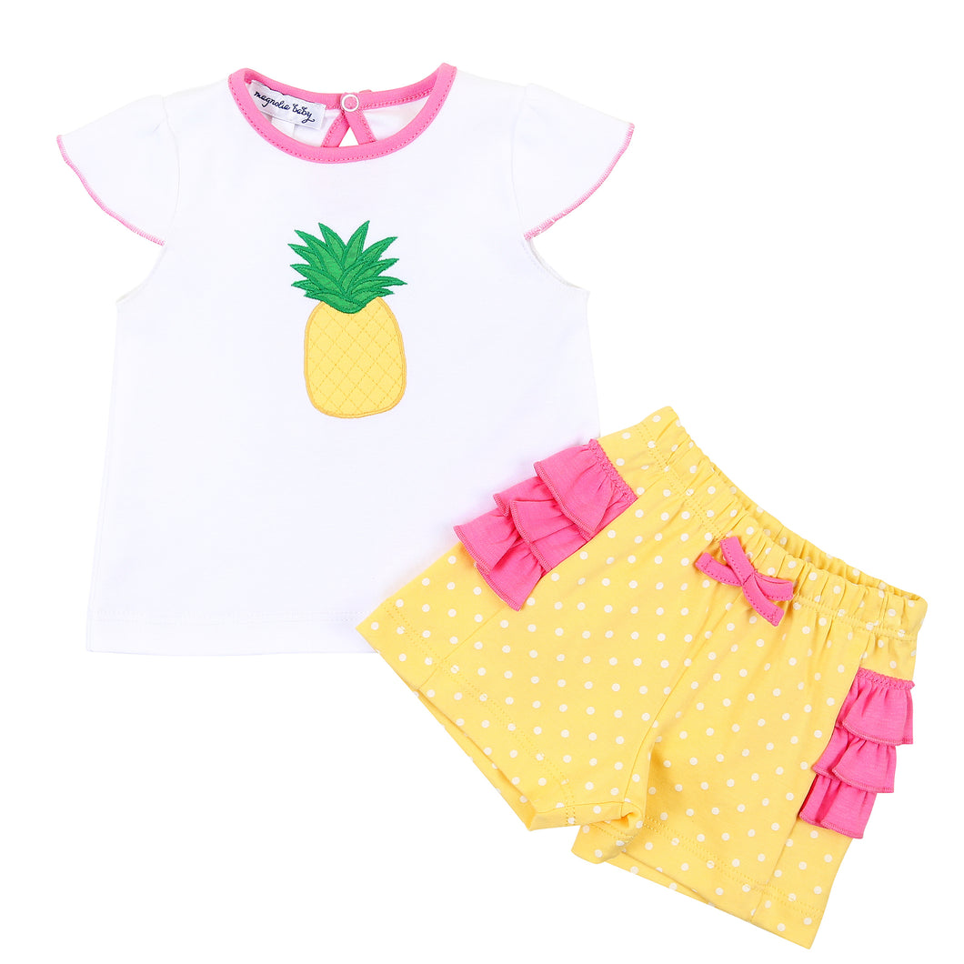 Sweet Pineapple Ruffle Flutter 2 pc Set