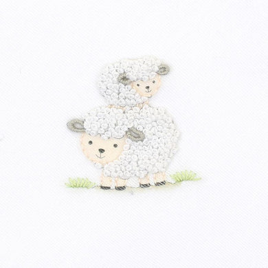 Magnolia Baby Sheep embroidered receiving blanket