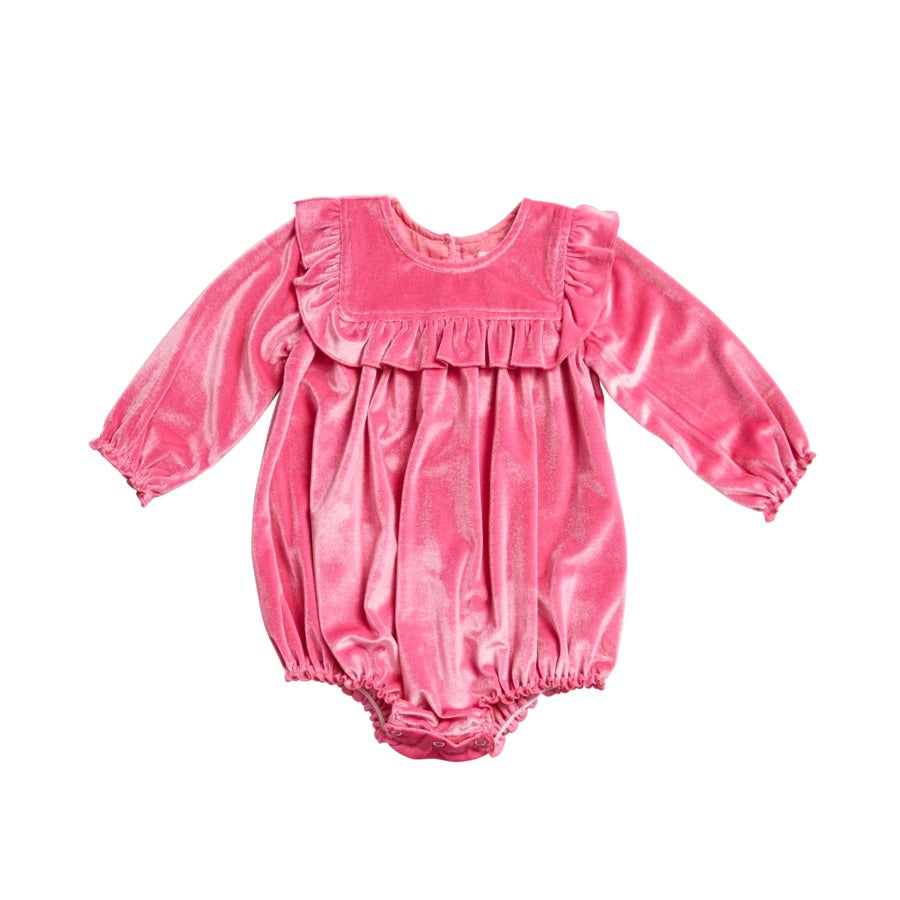 Pink Chicken Quinn Bubble- Pink Velour