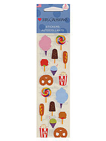 Mrs. Grossman's Carnival Food Sticker Strip