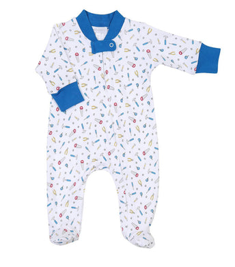 Magnolia Baby Tooltime Zipped Footie