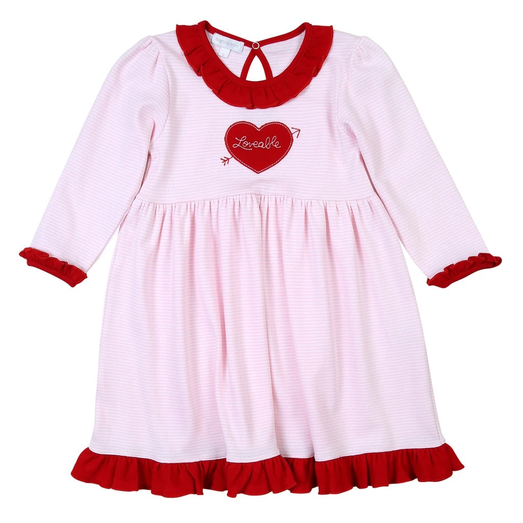 Magnolia Baby Loveable Appliqué Dress Set