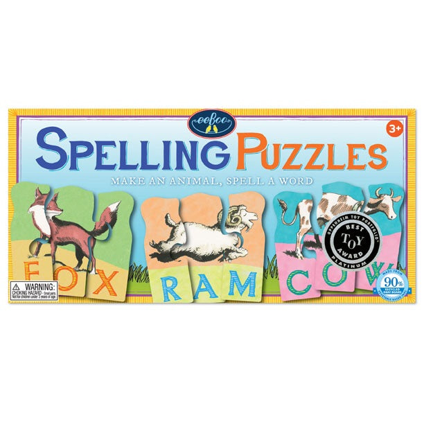 Eeboo Animal Spelling Puzzle Cards