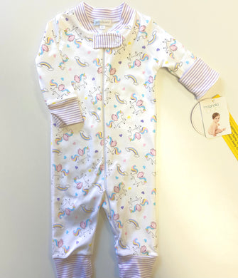 Magnolia Baby Unicorns Zipped Pajama