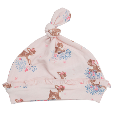Angel Dear Woodland Deer Ruffle Knotted Hat