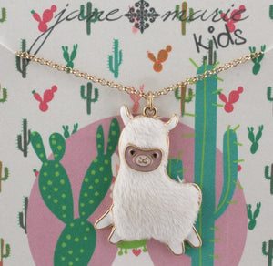 Jane Marie Soft Furry Llama necklace