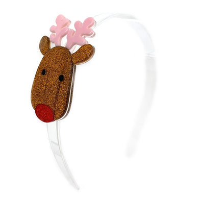 Lilies & Roses Copper Reindeer Face Headband