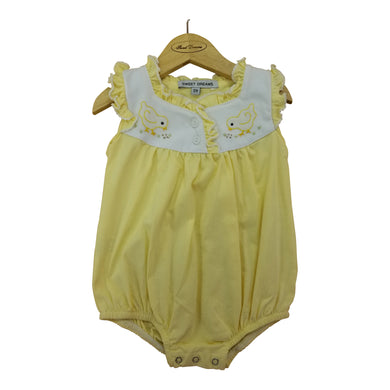 Yellow Chick Knit Embroidered Bubble