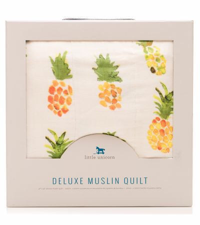 Little Unicorn Deluxe Muslin Quilt - Pineapples