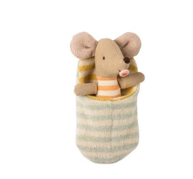 Maileg Baby Mouse in a Sleeping Bag