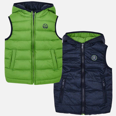 Mayoral Reversible Green/Navy Puffer Vest