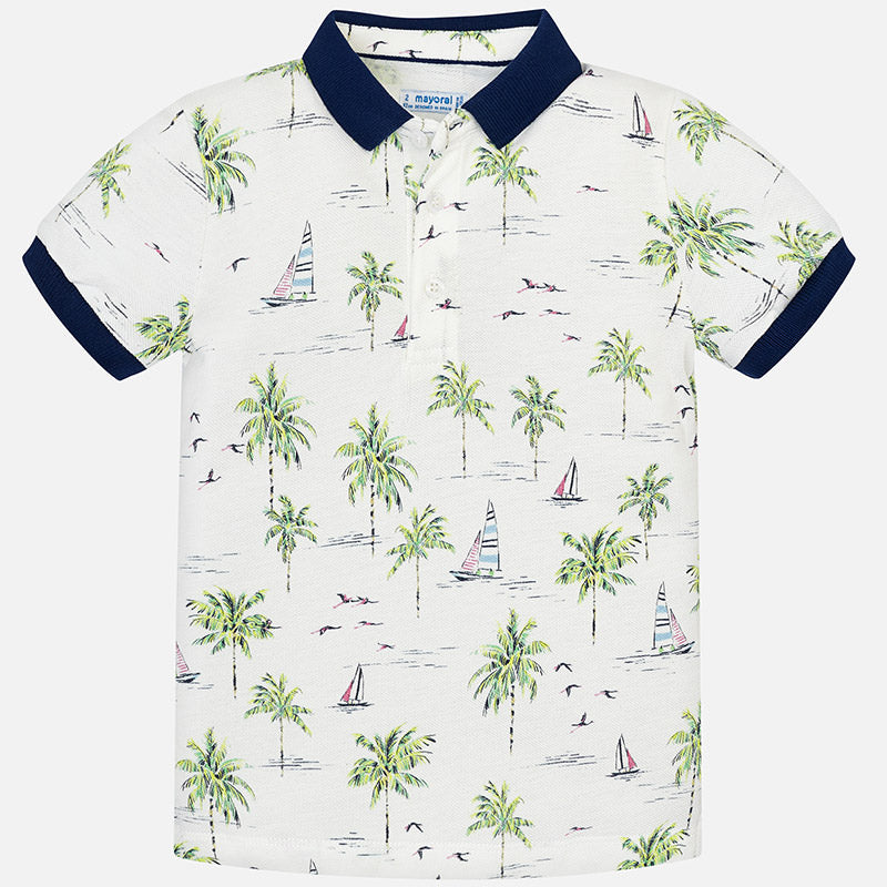 Mayoral Palm Polo-Cream