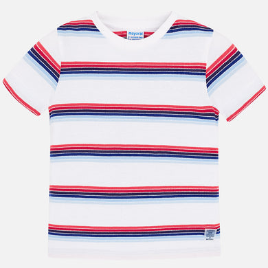 Mayoral Striped T-Shirt-White
