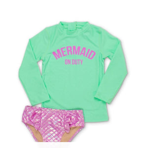 Shade Critters Mint Mermaid Rashguard Set
