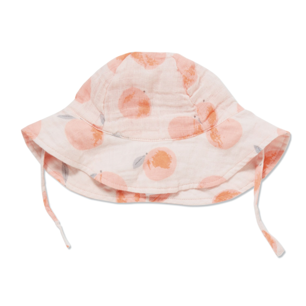 Angel Dear Peachy Muslin Sunhat