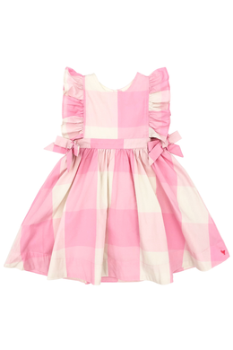 Pink Chicken Amy Dress in Sea Pink Gingham