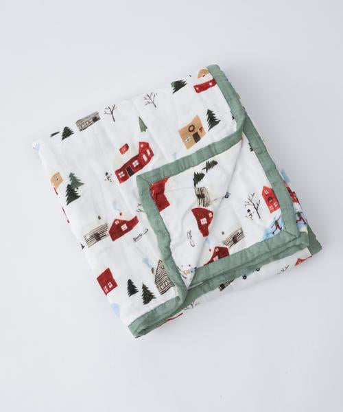 Little Unicorn Deluxe Muslin Quilt-Winter Village