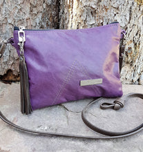 Load image into Gallery viewer, BELLA Leather Cross-body Bag - Purple