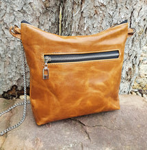Load image into Gallery viewer, QUINN Leather Shoulder Bag - Carmel