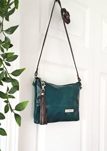 BELLA Leather Cross-body Bag - Teal