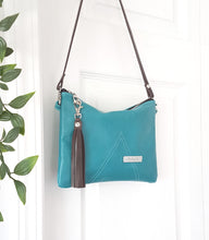 Load image into Gallery viewer, BELLA Leather Cross-body Bag - Turquoise