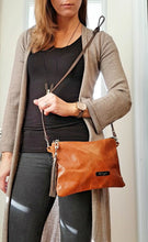 Load image into Gallery viewer, BELLA Leather Cross-body Bag - Carmel