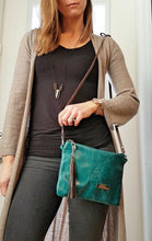 Load image into Gallery viewer, BELLA Leather Cross-body Bag - Teal