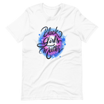 Load image into Gallery viewer, Black Girls Matter Blue Airbrushed Tee