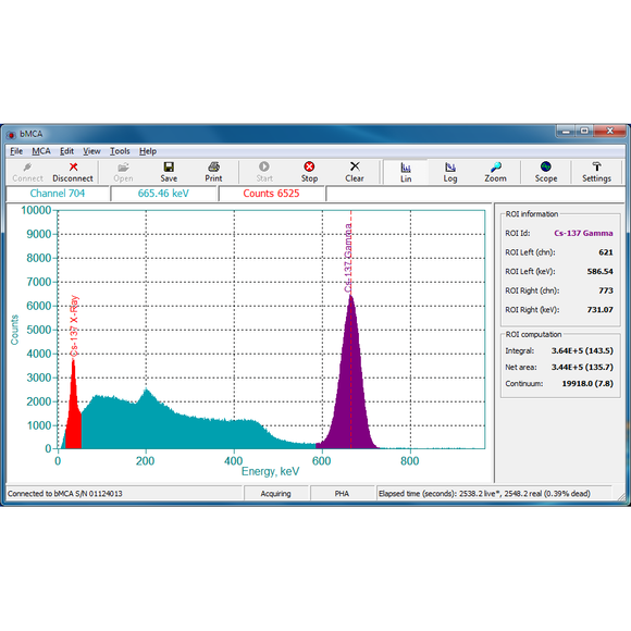bMCA Basic Spectrometry Software