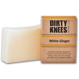 White Ginger Bar Soap - Dirty Knees Soap Co., LLC