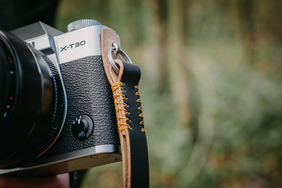 Luxury leather wrist camera strap - The No. 59 Black