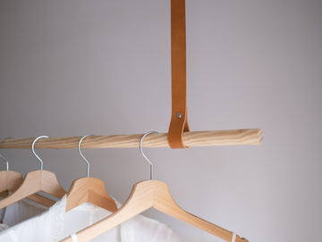 leather straps for clothes rail