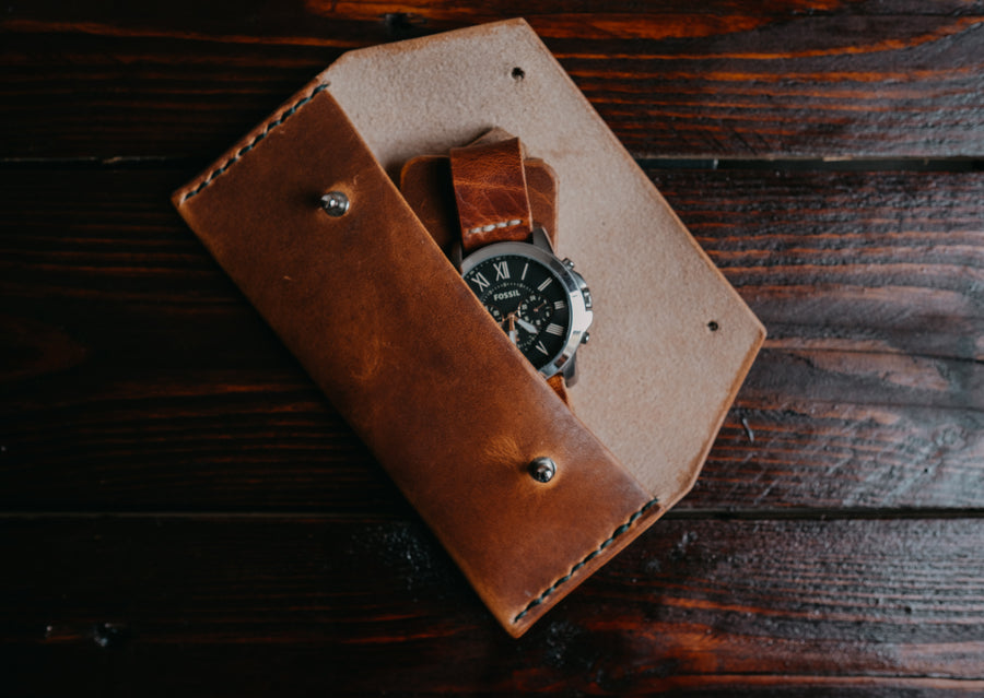 horween leather watch case