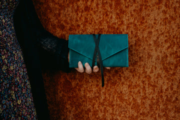 long leather wallet for women