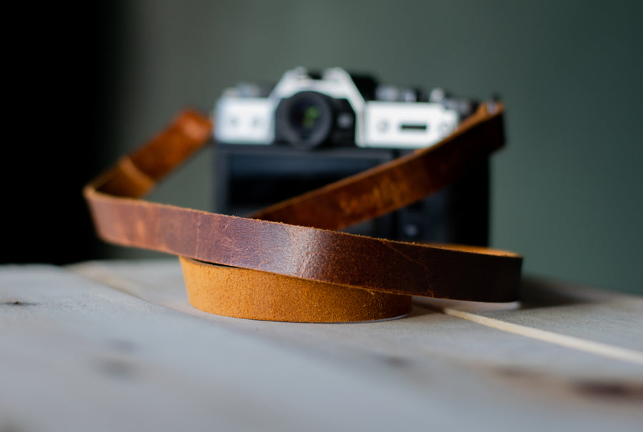 fuji camera strap, small camera strap, leather camera strap for small camera